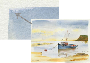 Giclée watercolours-boat
